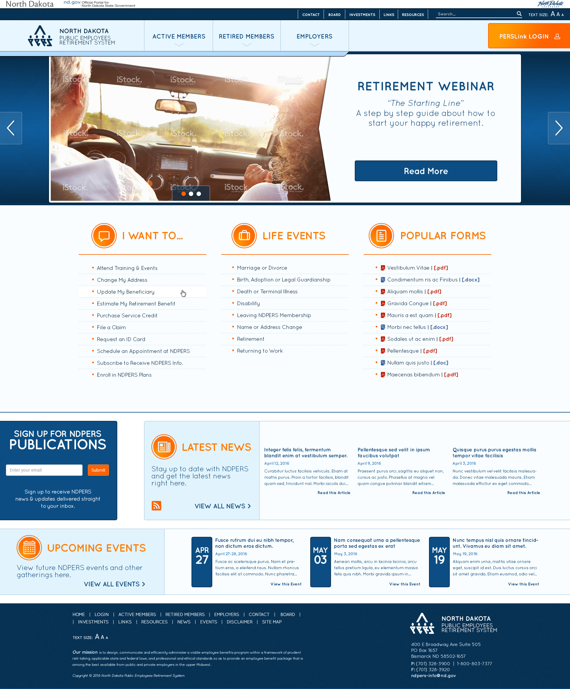 Colors for professional website - Ndpers Website Home 2c